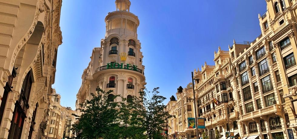 Gran Via in Madrid.