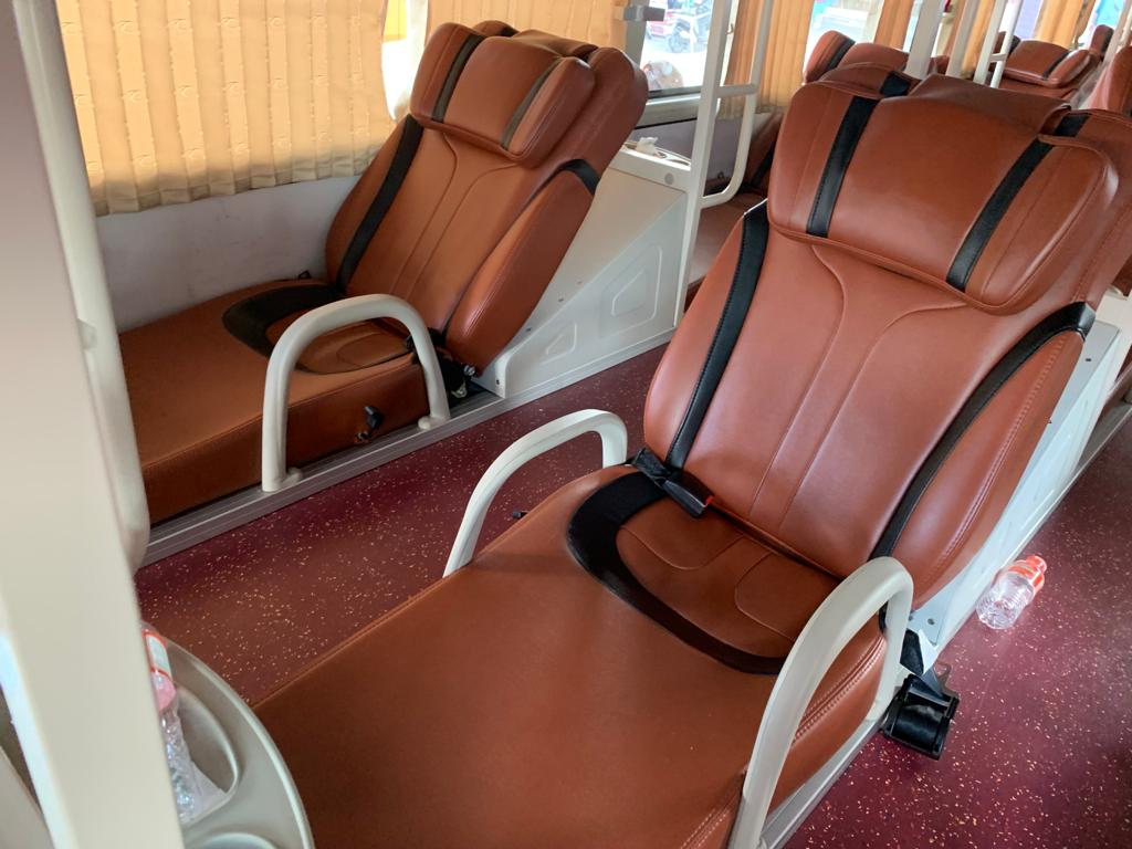 bus seats in Vietnam - 30 day itinerary
